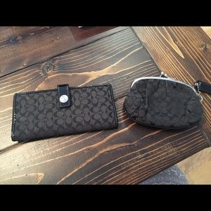 SOLD Coach wallet and coin purse
